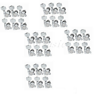 30pcs Right Guitar String Machines Heads Tuning Pegs For Fender Parts Chrome