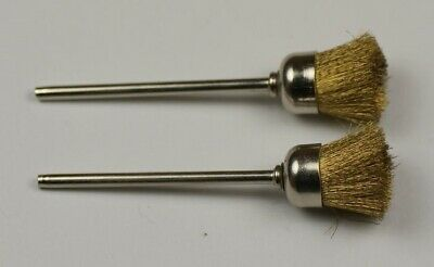 2x Brass Wire Cup Brushes for Dremel Rotary Polishing cleaning rust brush Tool