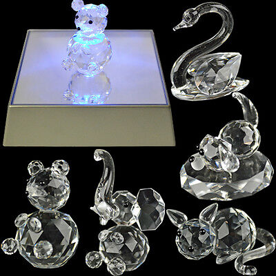 Crystal Figurine Collection Elements Glass Figurines Gift Ornament New In Box