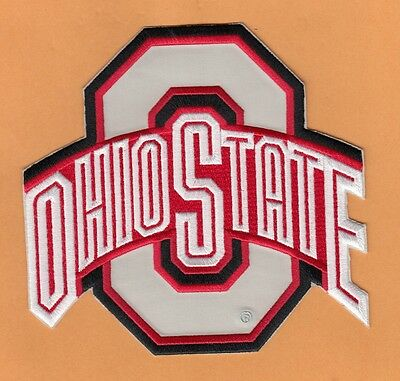 THE OHIO STATE BUCKEYES LARGE 6 inch JERSEY JACKET PATCH IRON ON UNSOLD STOCK