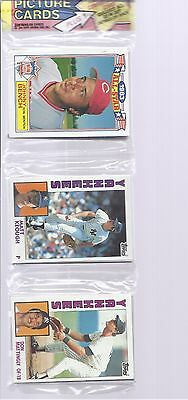 1984 Topps Baseball Rack Pack with Don Mattingly Rookie showing