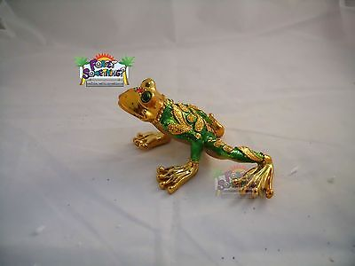 Poly Resin Statue Frog Figurine, Lucky Good Fortune Mosaic With Gems # 2