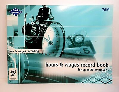 Zions #76M Hours and Wages Record Book - ZN76M
