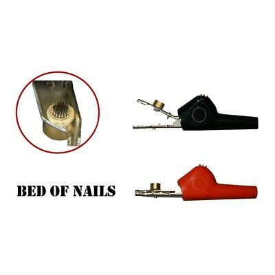 1-pair Alligator Clip w/ Angled Bed of Nails & ABN Single Spike  (#989-001)