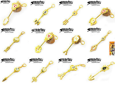 Metal Key chains of Fairy Tail Constellation Magister Lucy's Zodiac Magic keys!
