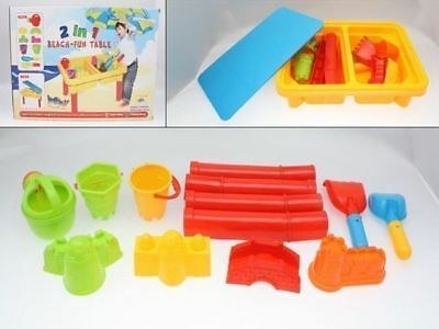 Sand pit Toys Fun Table 11 Pce  great for day care reduced to clear