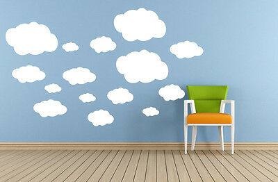 20pcs Clouds Removable Wall stickers Home DIY Vinyl decor kids Nursery Mural