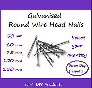 Galvanised Round Wire Head Nails,Used by Tradesmen, Sizes 50,65,75,100,150mm