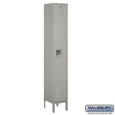 "Standard Metal Single Tier 1 Wide 6 Feet High 12 "" Deep Gray Unassembled LOCKER"