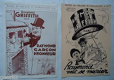 SILENT MOVIES/RAYMOND GRIFFITH/2 french  pressbooks