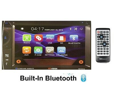 """XO VISION 7"""" TFT DOUBLE DIN IN DASH MULTIMEDIA DVD MP3 CAR AUDIO STEREO RECEIVER"""