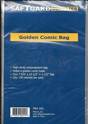 10 Golden Age Size Comic Book Bags And Backing Boards Archival Safe Free Ship