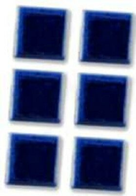 "New boxed Reutter Porzellan dolls house miniature 13mm 1/2"" blue tile set of 6"
