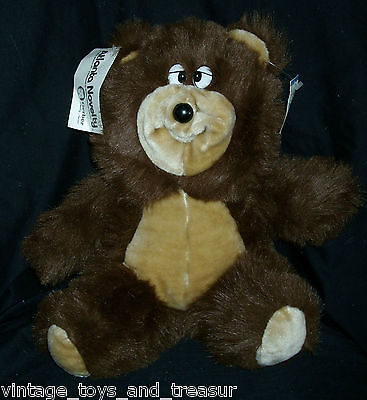 "14"" Vintage Atlanta Novelty Gerber Brown Tan Teddy Bear Stuffed Animal Plush Toy"