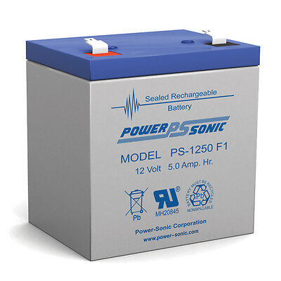 Power-Sonic 12V 5AH Sealed Lead Acid (SLA) Battery for UB1250 Trailer Break Away