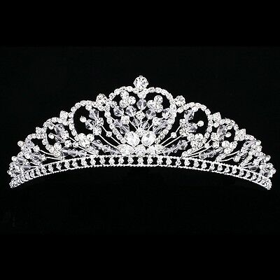 Floral Bridal Headpiece Rhinestone Crystal Prom Wedding Tiara V911