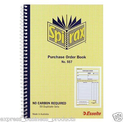 2 Pack Spirax #557 Purchase Order Book – EA40899