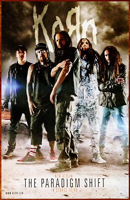 KORN The Paradigm Shift Ltd Ed Discontinued RARE Poster +FREE Stickers +Poster!