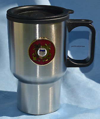 Coast Guard Stainless Steel Travel Coffee Cup Mug