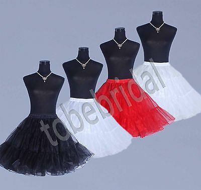 "20"" 50s Vintage Rockabilly Retro Underskirt Swing Petticoat Fancy Net Skirt Tutu"