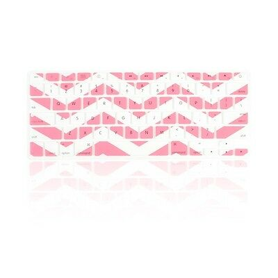 """Chevron Rose Pink N White Silicone Keyboard Cover for Macbook Air 13"""" A1369"""