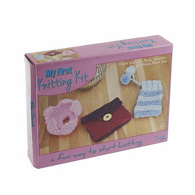 First Knitting Kit - beginners & kids to learn
