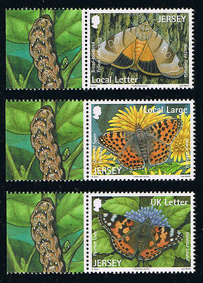 Jersey Butterflies and Moths Postage Stamp Set
