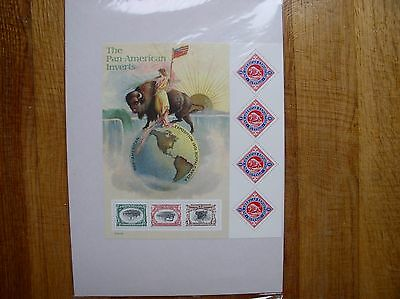 2001 #3505 Pan-American Expo Invert Stamps SS of 7 MNH