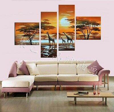 Special offer★Christmas HOME TOP Decor ART★4P LARGE Decor painting★ X013