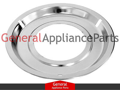 "GE General Electric Gas Stove Range Cooktop 8 1/4"" Chrome Drip Pan Bowl WB32X84"