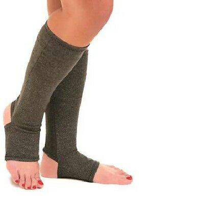 Compression Knee Socks Supports Open Toe Heel Cotton Circulation Therapeutic