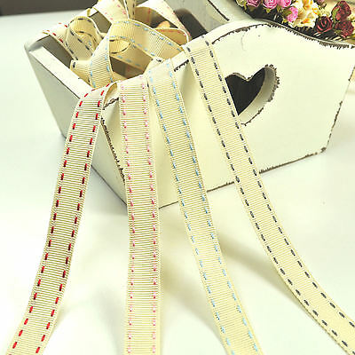 Berisford Stitched Grosgrain Natural Charms Ribbon 15mm - 1 metre