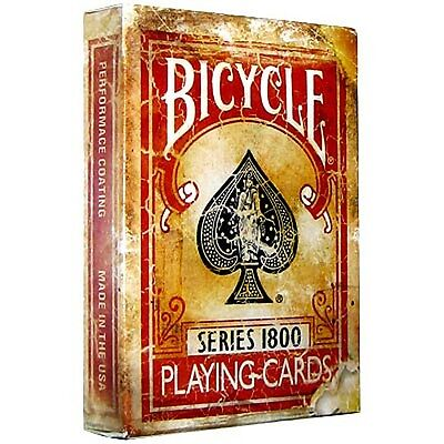 Bicycle 1800 Vintage Series Playing Cards by Ellusionist (Red)