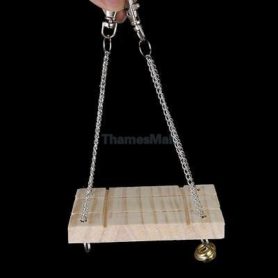Wooden Hanging Swing Fun Toy for Pet Hamster Mouse Gerbil Rat Small Parrot Bird