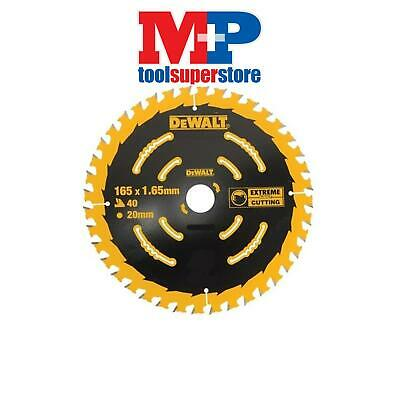 Dewalt Dt10301 Extreme Corded Circular Saw Blade 165Mm X 20Mm Bore 40 Tooth