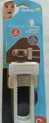 Safety 1st Cabinet Slide Lock - 2 in pack - Crucial for Child and Toddler Safety