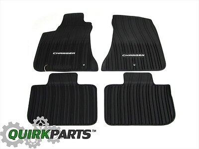 2011-2016 Dodge Charger All-Weather Rubber Slush Mats Set of 4 MOPAR GENUINE OEM
