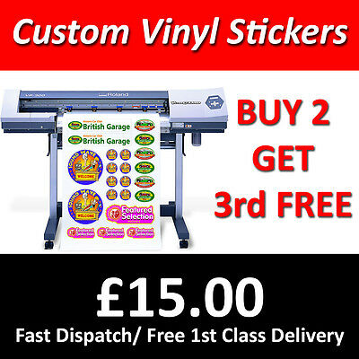 Custom Sticker Printing Vinyl Cut Any Shape Stickers Decals Labels Waterproof