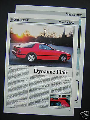 Mazda RX-7 Road Test from 1987 - RX7