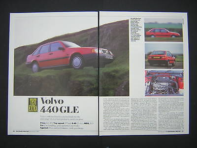 Volvo 440 GLE Road Test from 1990