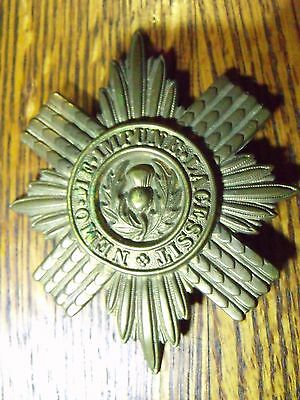 Original Ww1 Scot's Guards Metal Pouch Badge Insignia Salty Free Shipping