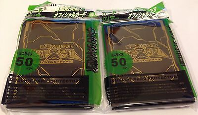 (100) YU-GI-OH Card Deck Protectors New ZEXAL Card sleeves Black/gold