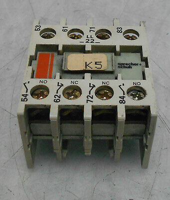 Sprecher Schuh Auxiliary Contact, 4 Position, CS 3-P, Used, WARRANTY