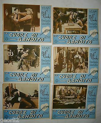WESTERN/ BILL CODY/THE CYCLONE RANGER/ 6 italy posters