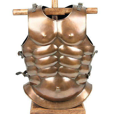 Greek Roman Medieval Re-enactment Muscle 20g Cuirass Body Armor Copper Finish