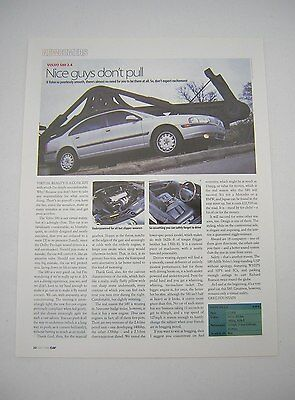 Volvo S80 2.4 Road Test article from 1999 - Original