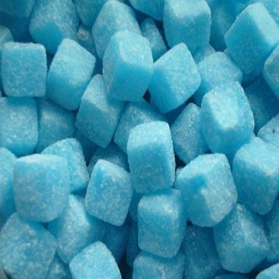 Blue Raspberry Cubes Boiled Fruit Sweets Kingsway Choose Weight 100g - 3kg Bag