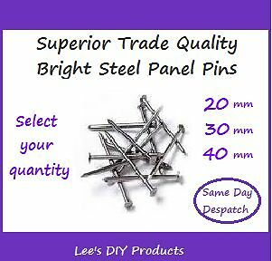 Superior Trade Quality Bright Finished Steel Panel Pins -20, 30 & 40mm