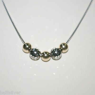 6 pcs Sterling Silver Box Chain NECKLACES & 5 pieces Silver & Gold Filled Beads