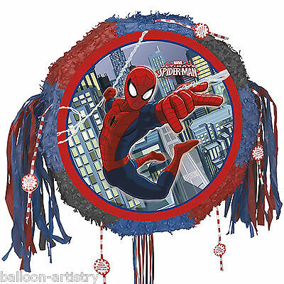 Marvel's Ultimate Spider-man Superhero Drum Popout Pull Pinata Party Game